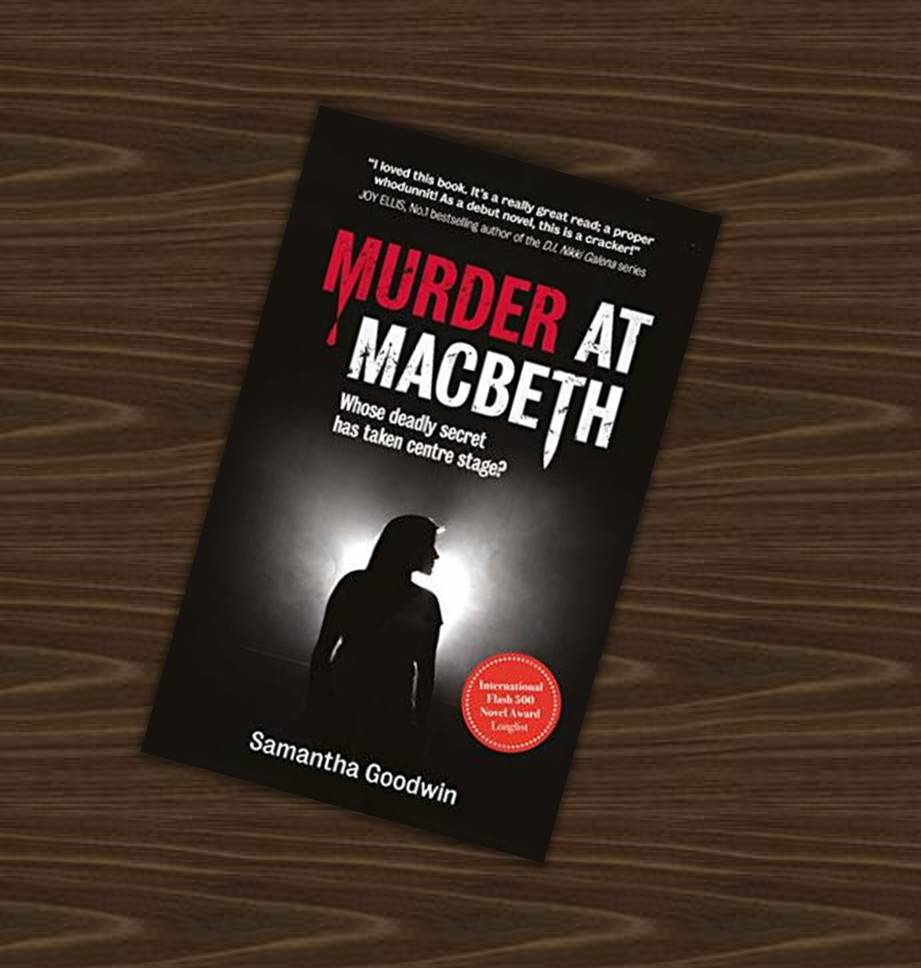 Cover pic of Book review of Murder at Macbeth by elysian bookgraphy