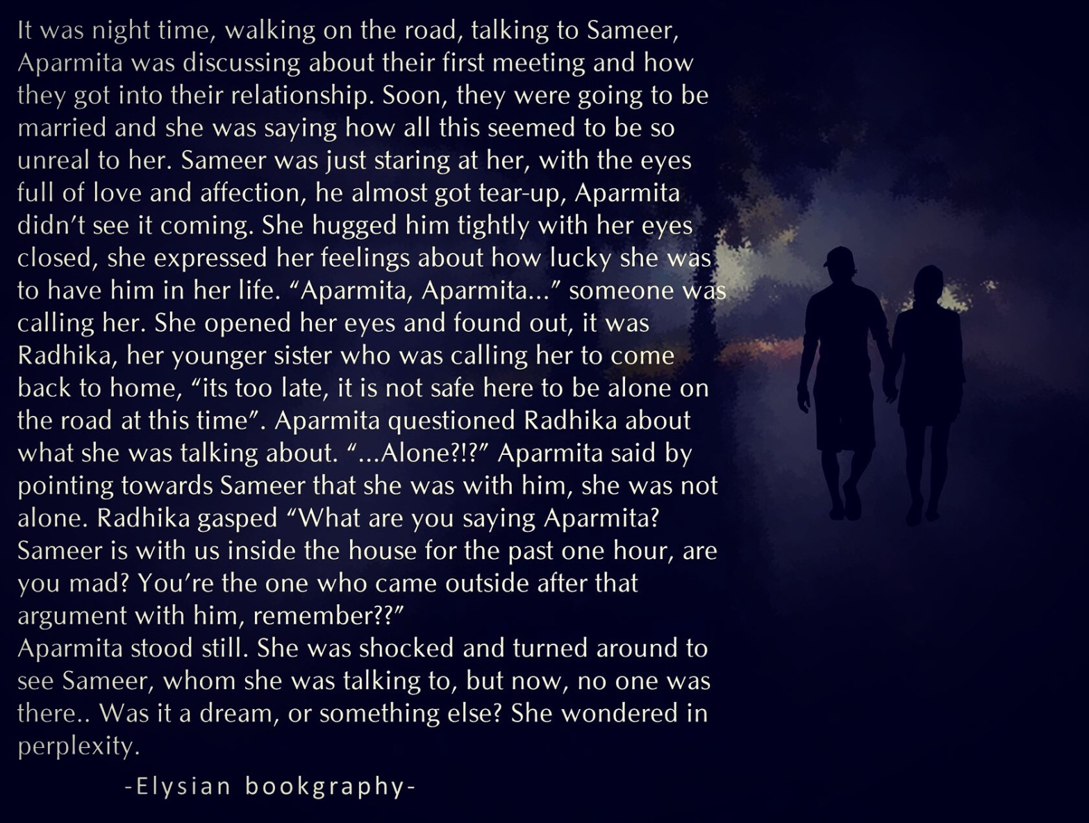 Cover pic of That Late Night Walk..by Elysian Bookgraphy