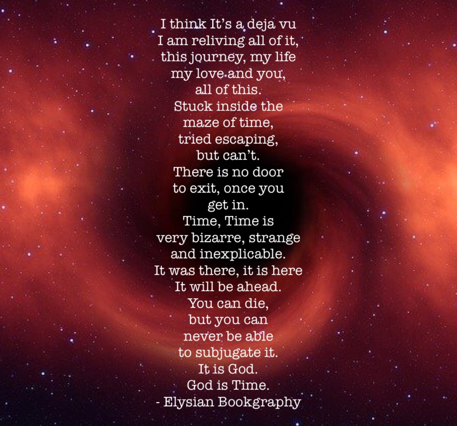 Cover pic of Time by Elysian Bookgraphy