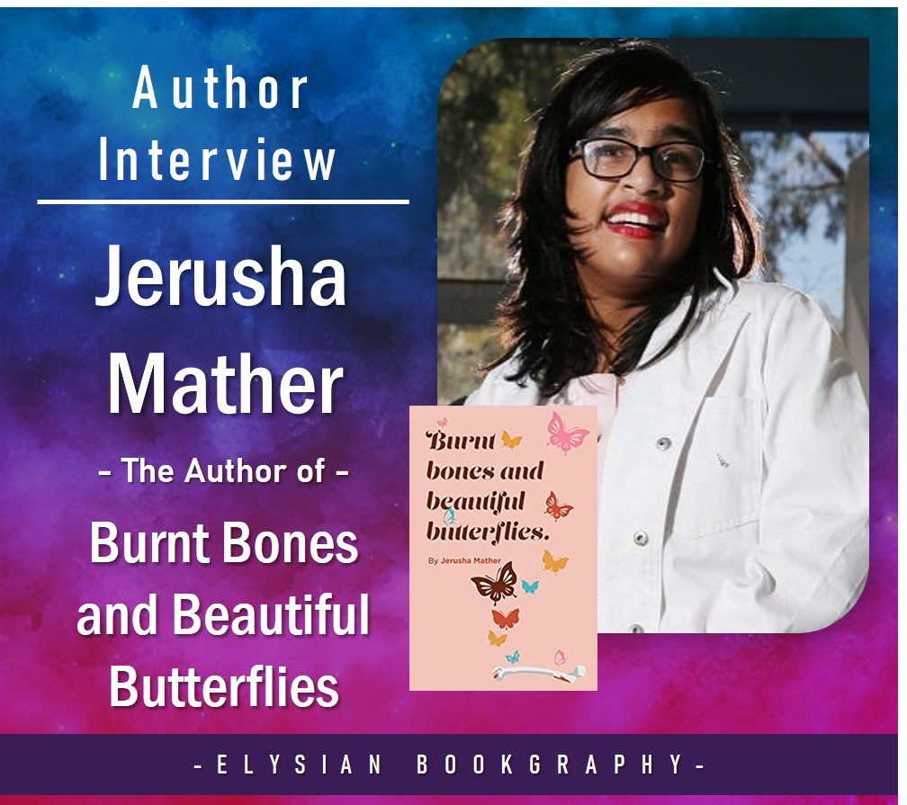 Cover pic of Interview with Jerusha Mather by Elysian Bookgraphy
